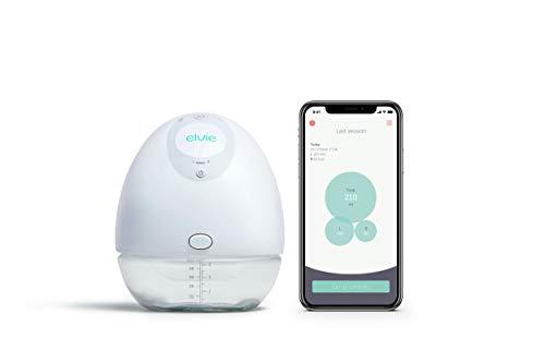Elvie Pump tragbare Milchpumpe mit App - elektrisches, handfreies, kompaktes, tragbares Gerät zum Stillen,...