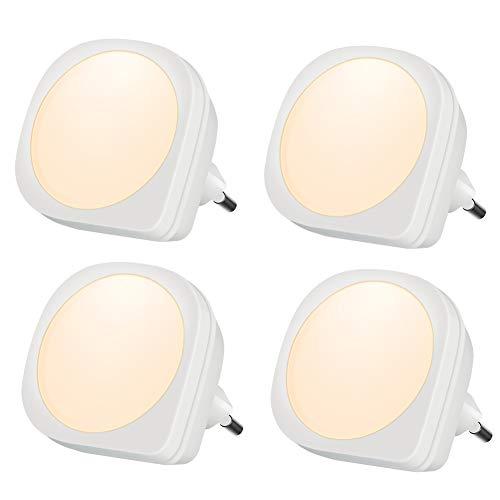 Emotionlite 4 Stück LED Nachtlicht Steckdose mit Dämmerungssensor Kinder Nachtlicht Sehr gut für...