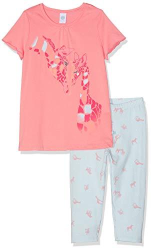 Sanetta Mädchen Pyjama Short Zweiteiliger Schlafanzug, Rot (Coral Light 3937), 128
