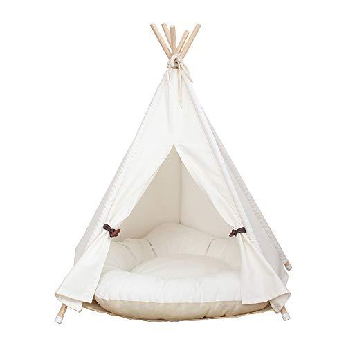 little dove,Hunde-Tipi-Zelt, Hause und Zelt mit Spitze für Hund oder Haustier, abnehmbar und waschbar mit...