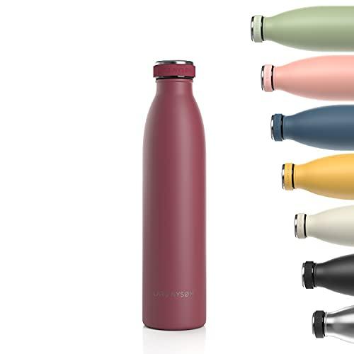 LARS NYSØM Trinkflasche Edelstahl 750ml   BPA-freie Isolierflasche 0.75 Liter   Auslaufsichere Wasserflasche...
