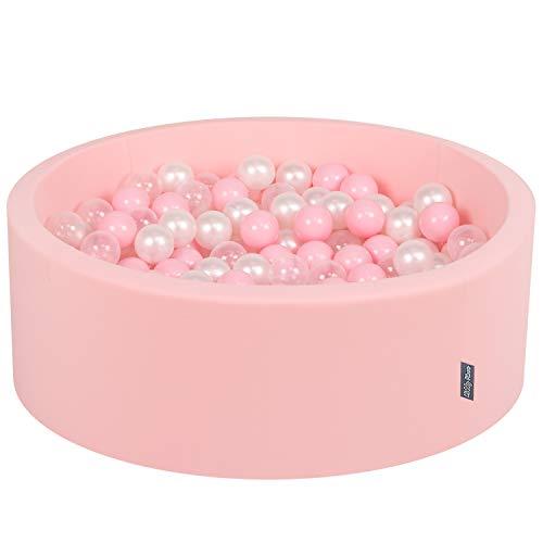 KiddyMoon Bällebad 90X30cm/200 Bälle ∅ 7Cm Bällepool Mit Bunten Bällen Für Mädchen Babys Kinder Rund,...