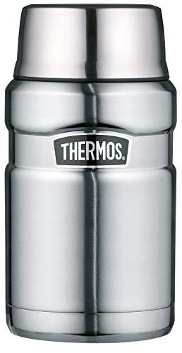 THERMOS Thermobehälter für Essen groß Lunchpot Stainless King, Thermogefäß Edelstahl mattiert 710ml,...