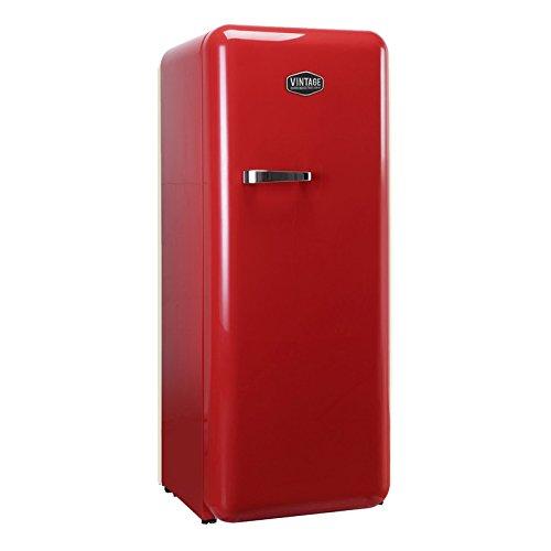 Vintage Industries ~ Retro-Kühlschrank Havanna in rot | 50er Jahre Look | Größe 152,5 cm |...