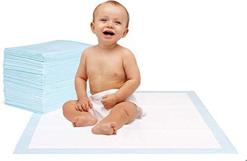 Krankenunterlage für Menschen mit Blasenschwäche | 100 Stück | 6-lagig saugstarke Inkontinenzunterlage 40 x...