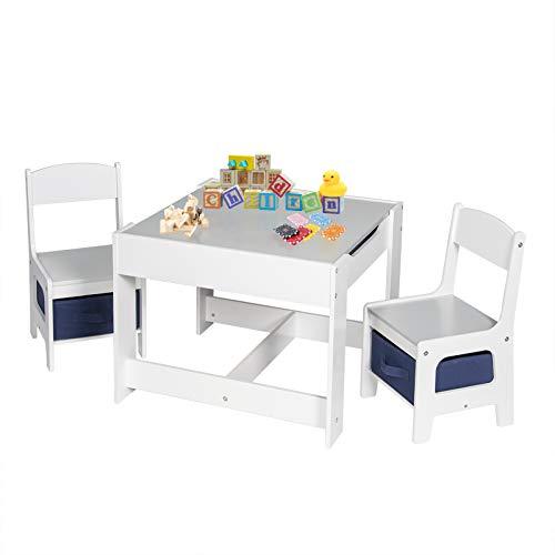 EUGAD 0001ETZY Kindersitzgruppe, 1 Kindertisch und 2 Stühle Sitzgruppe für Kinder, aus Holz, Kindermöbel...