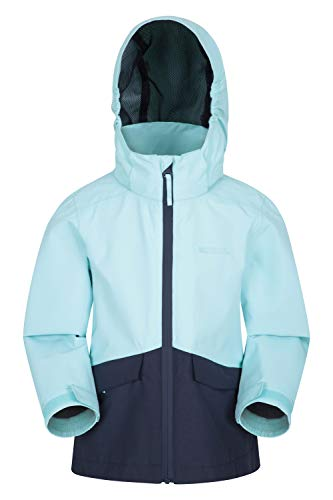 Mountain Warehouse Cloud Burst wasserdichte Kinderjacke – atmungsaktiv, wasserdicht, versiegelte Nähte,...
