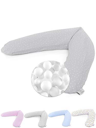 SOULBABY ® Stillkissen Mikroperlen XXL 190cm groß - bequem schlafen mit dem Schwangerschaftskissen -...