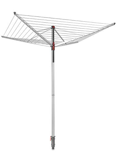 Vileda Sun-Lift Compact Wäschespinne, 40 m Trockenleinenlänge, höhenverstellbar von 1,55-1,72 m,...