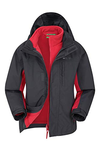 Mountain Warehouse Wasserfeste Cannonball Kinder-3-in-1-Jacke - atmungsaktive Dreiklima Winterjacke mit...