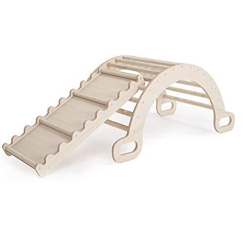 Holz-Klettergerüst 'Dreieck+Rutsche' von MAMOI