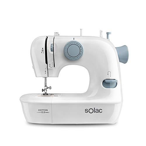 Solac SW8220 Cotton 12 Mechanische Nähmaschine, mehrfarbig