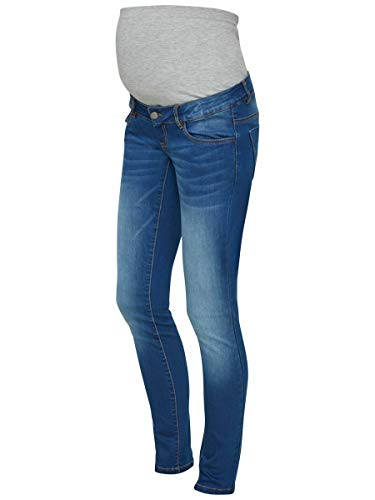 MAMALICIOUS Mama Licious Female Umstandsjeans Slim Fit 2932Medium Blue Denim
