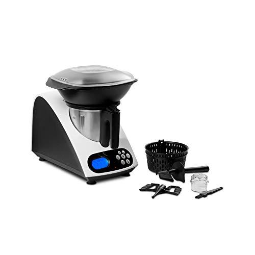 MEDION Küchenmaschine mit Kochfunktion, 1000 Watt Leistung, 2 Liter Edelstahlschüssel, Koch und Mixaufsatz,...