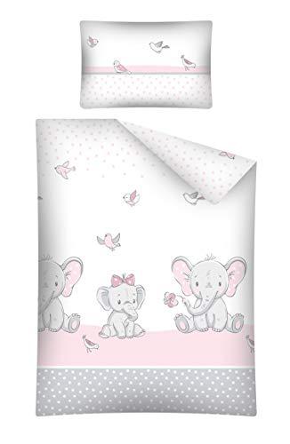 Soft Dream Kinderbettwäsche Babybettwäsche 100x135 40x60 Verschiedenen Motiven mit Tiere für Mädchen und...