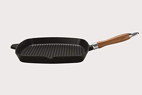 Eisenguss-Steakpfanne Rustica mit Rillenboden, 28 x 28 cm