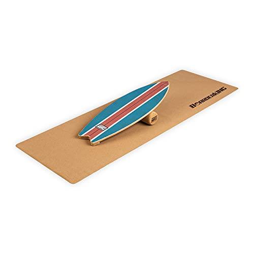 BoarderKING Indoorboard Wave Balanceboard Skateboard Surfboard Trickboard Balance Board, inkl. 10/40 Korkrolle...