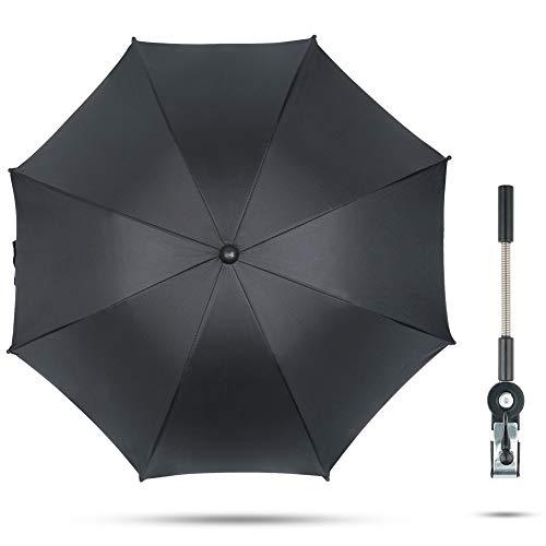 Fengzio Universal Sonnenschirm für Kinderwagen & Buggy 75 cm Durchmesser Kinderwagen Regenschirm mit...