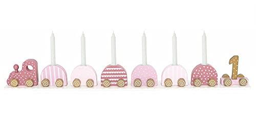 JaBaDaBaDo Geburtstagszug Holz rosa pink T266 Zahlen