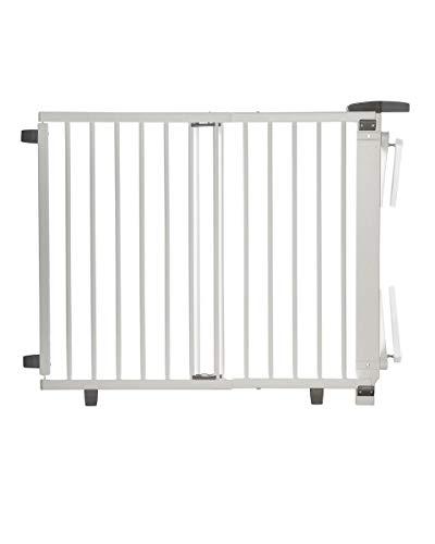Geuther, Treppenschutzgitter ausziehbar 2732+, für KinderHunde Türschutzgitter zum bohren Holz TÜV...