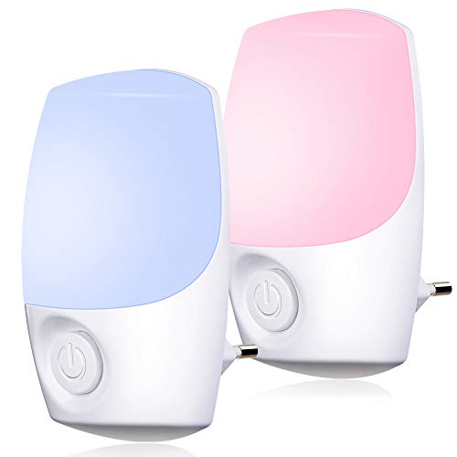 Nachtlicht Steckdose Farbe ausgewählt,Emotionlite Farbrotations LED Nachtlicht,Dämmerungssensor,Wählen Sie...