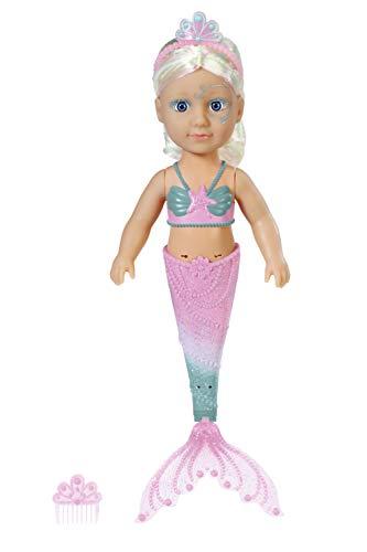 BABY Born 830932 Little Sister Meerjungfrau 46cm Puppe - Leicht für Kleine Hände, Kreatives Spiel fördert...