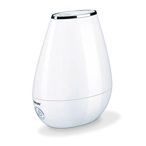 Beurer LB 37 Luftbefeuchter mit mikrofeiner Ultraschall-Zerstäubung, leisem Nachtmodus, Aromafunktion, weiß
