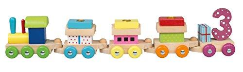Idena 31089 - Geburtstagszug, Lokomotive mit 4 Waggons, Kerzen 1 bis 6, Kindergeburtstag, Geburtstagskerzen,...