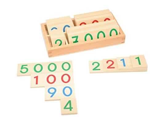 Montessori Mathe Spielzeug aus Holz. Kinderspielzeug Set