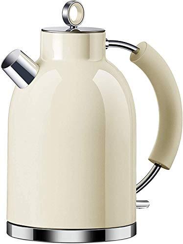 Wasserkocher Edelstahl, ASCOT 1.6 Liter Elektrischer Wasserkocher, BPA frei, Schnurlos mit 2200 Watt,...