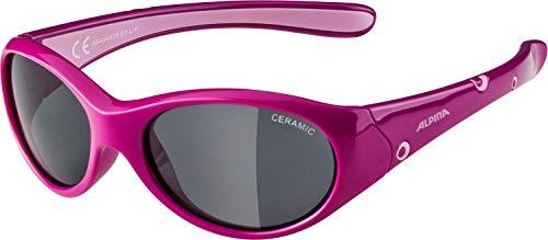 ALPINA Unisex - Kinder, FLEXXY GIRL Sonnenbrille, pink-rose gloss, One Size