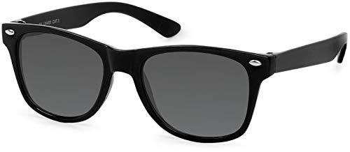 styleBREAKER Kinder Nerd Sonnenbrille mit Kunststoff Rahmen und Polycarbonat Gläsern, klassiches Retro Design...