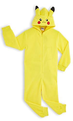 Pokémon Pikachu Schlafanzug, Kinder Jumpsuits Kostüm Tier Pyjama Onesie, Kuscheliger Kigurumi, Kostüm...