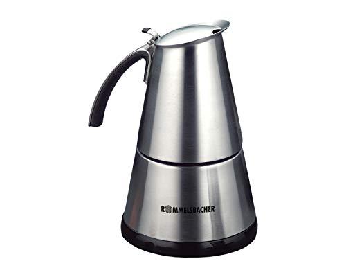 ROMMELSBACHER EKO 364/E Espressokocher elektrisch (2-4 Tassen, 250ml Füllmenge, 2 Edelstahl-Filtereinsätze,...