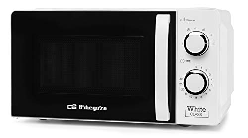 Orbegozo Mikrowelle mit 20 Liter Fassungsvermögen, 6 Betriebsstufen, Timer bis 30 Minuten, 700 W Leistung 700...