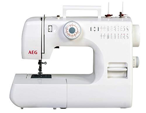 Silva-Homeline AEG Freiarm Nähmaschine mit 22 Nähprogrammen, für Anfänger geeignet, LED Beleuchtung und...
