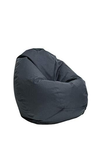 Bruni Sitzsack für Kinder Classico S in Grau – Kinder-Sitzsack mit Innensack, Abnehmbarer Bezug,...