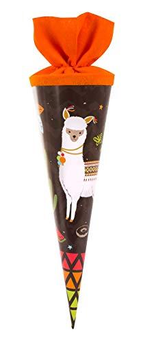 goldbuch 93581 Geschwistertüte 35 cm, Schultüte für Jungen, Zuckertüte mit Motiv HAPPYlife Lama,...
