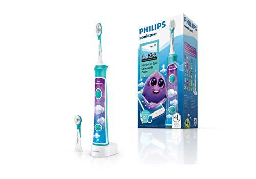 Philips Sonicare For Kids Elektrische Zahnbürste HX6322/04, mit Schalltechnologie, für Kinder, sanfte...