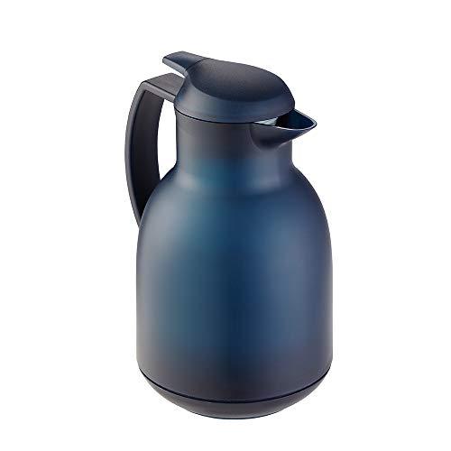Leifheit Bolero 1, 0 L Isolierkanne, 100% dicht, Thermoskanne mit doppelwandigem Vakuum-Glaskolben,...