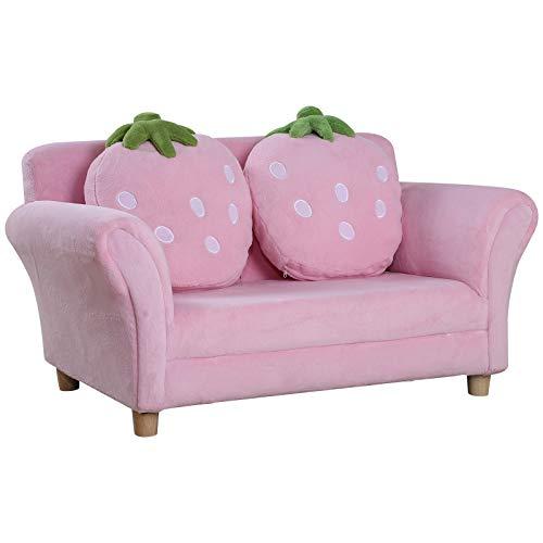 HOMCOM Kindersofa Kindersessel Sofa Couch Kinder Stuhl Kinderzimmer Softsofa Doppelsofa...