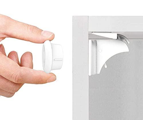 Norjews Baby Sicherheit Magnetisches Schrankschloss(10 Schlösser + 2 Schlüssel) | zum Kindersicherung...