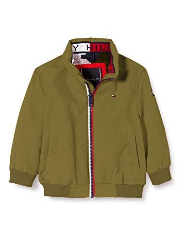 Tommy Hilfiger Jungen Essential Jacket Jacke, Grün (Uniform Olive L8q), 3-4 Jahre (Herstellergröße: 4)
