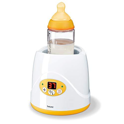 Beurer BY 52 Babykost- und Fläschchenwärmer, zum Erwärmen und Warmhalten von Babynahrung, 8 Minuten...