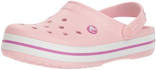 Crocs Unisex-Erwachsene Crocband Clogs, Pearl Pink/Wild Orchid, 39/40 EU