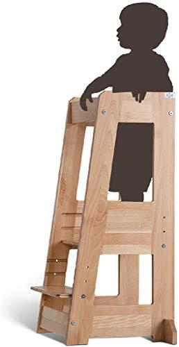 TiSsi Lernturm, Entdeckerturm Montessori mitwachsend Buche natur- 100339, beige