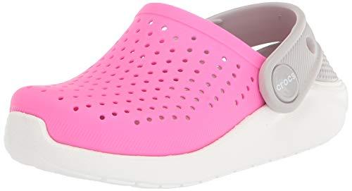 Crocs Jungen Unisex Kinder LiteRide Clog, Electric Pink/White, 30/31 EU