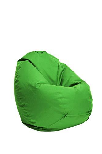 Bruni Kinder-Sitzsack Classico S in Grün – Sitzsack mit Innensack für Kinder, Abnehmbarer Bezug,...