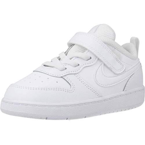 Nike Court Borough Low 2 (TDV) Sneaker, White/White-White, 21 EU
