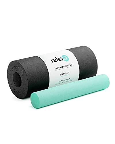 RELEXA® Faszienrolle 2in1 | Ideal Zur Massage Bei Rückenschmerzen & Als Ergänzung Zum Fitness-Training |...